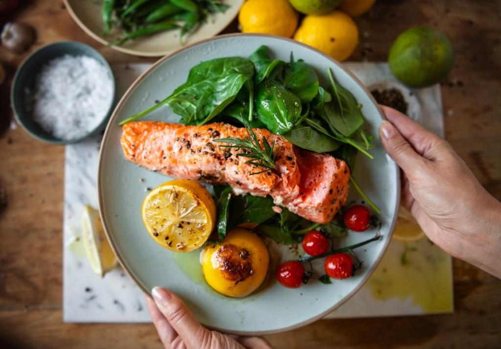 plat complet saumon
